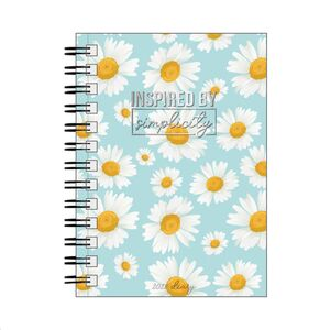SMALL DAILY SPIRAL BOUND DIARY 12 MONTH 2022 DAISY
