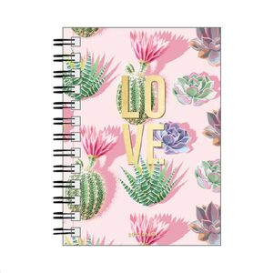 SMALL DAILY SPIRAL BOUND DIARY 12 MONTH 2022 LOVE