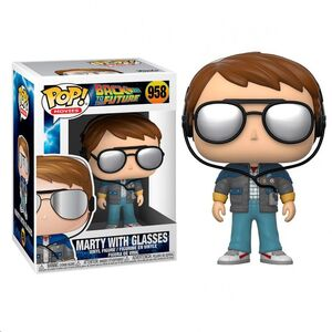 FUNKO POP BACK TO THE FUTURE MARTY WITH GLASSES